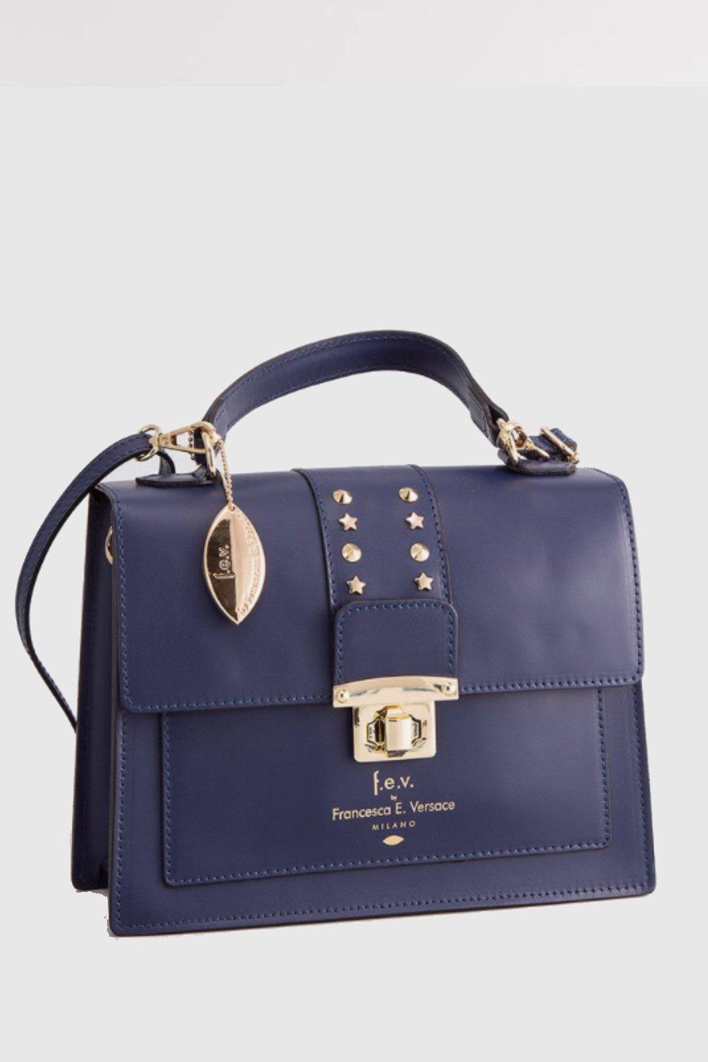 Luxusni damska kabelka Versace v tmav modre barve (4)