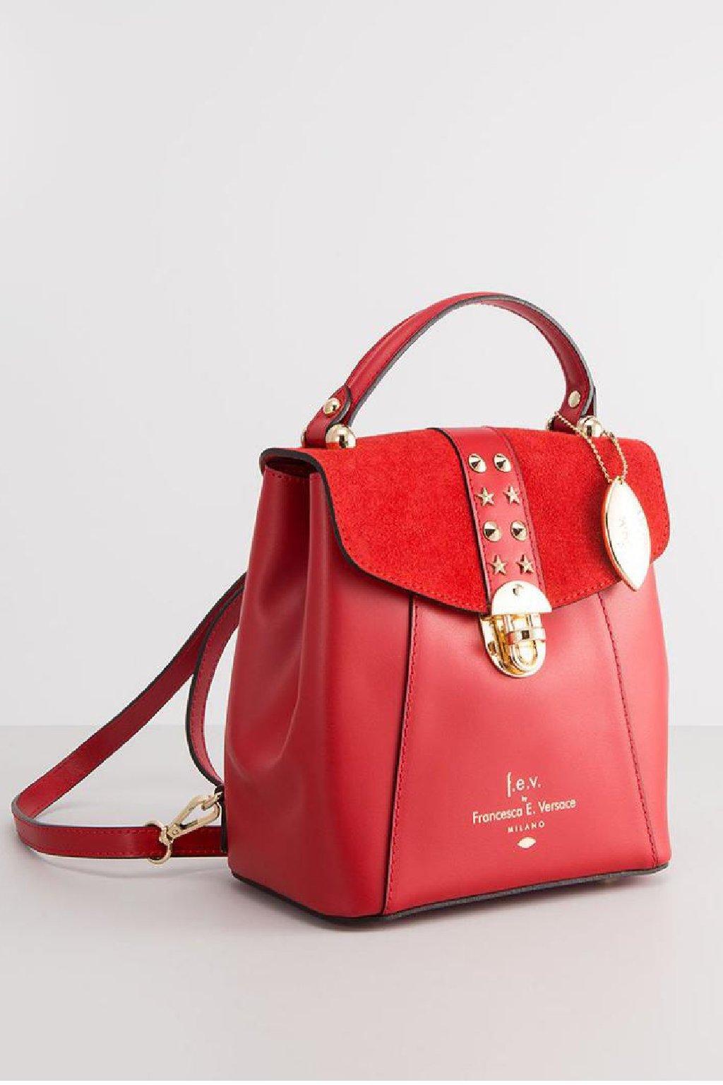 Luxusni damsky batuzek Versace cervena barva (4)