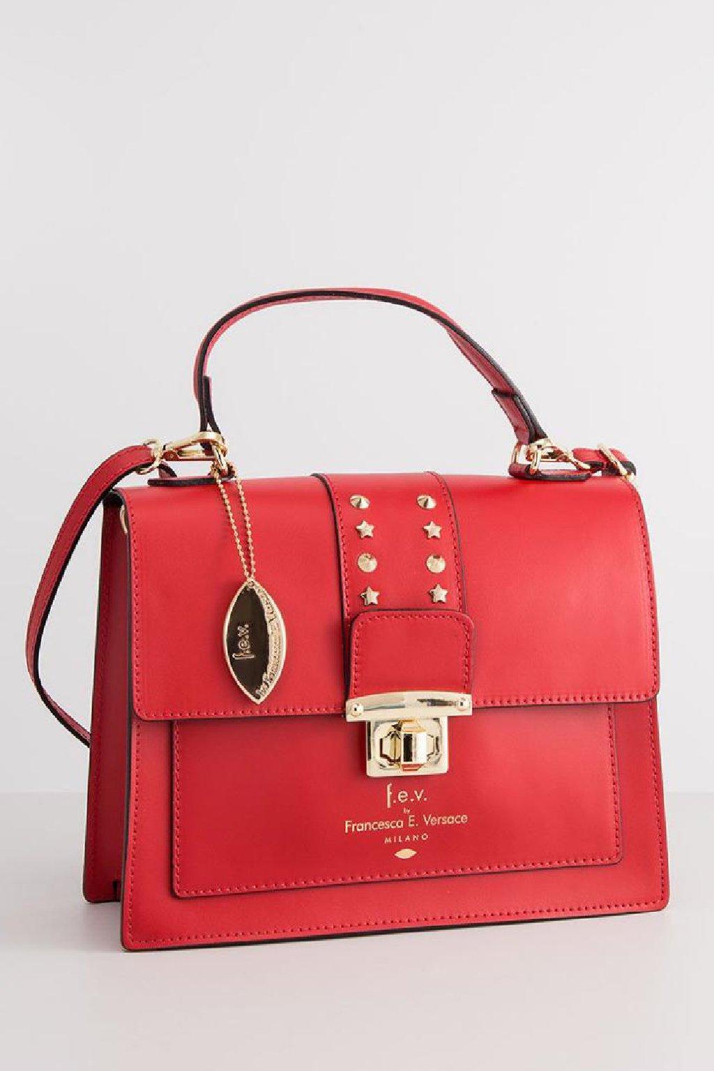 Luxusni damska kabelka Versace v cervene barve (5)
