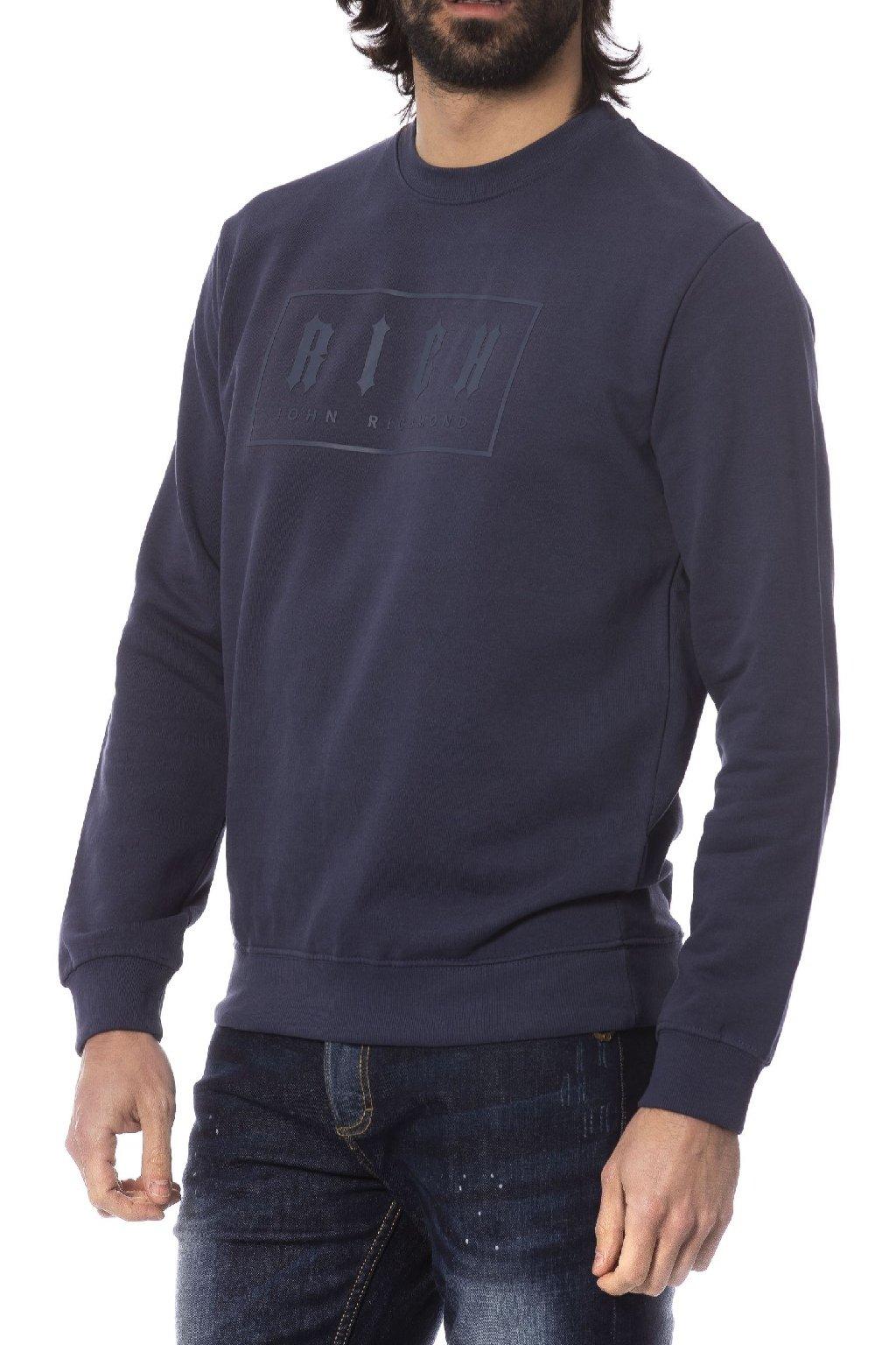 znackova mikina pres hlavu John Richmond blu (2)