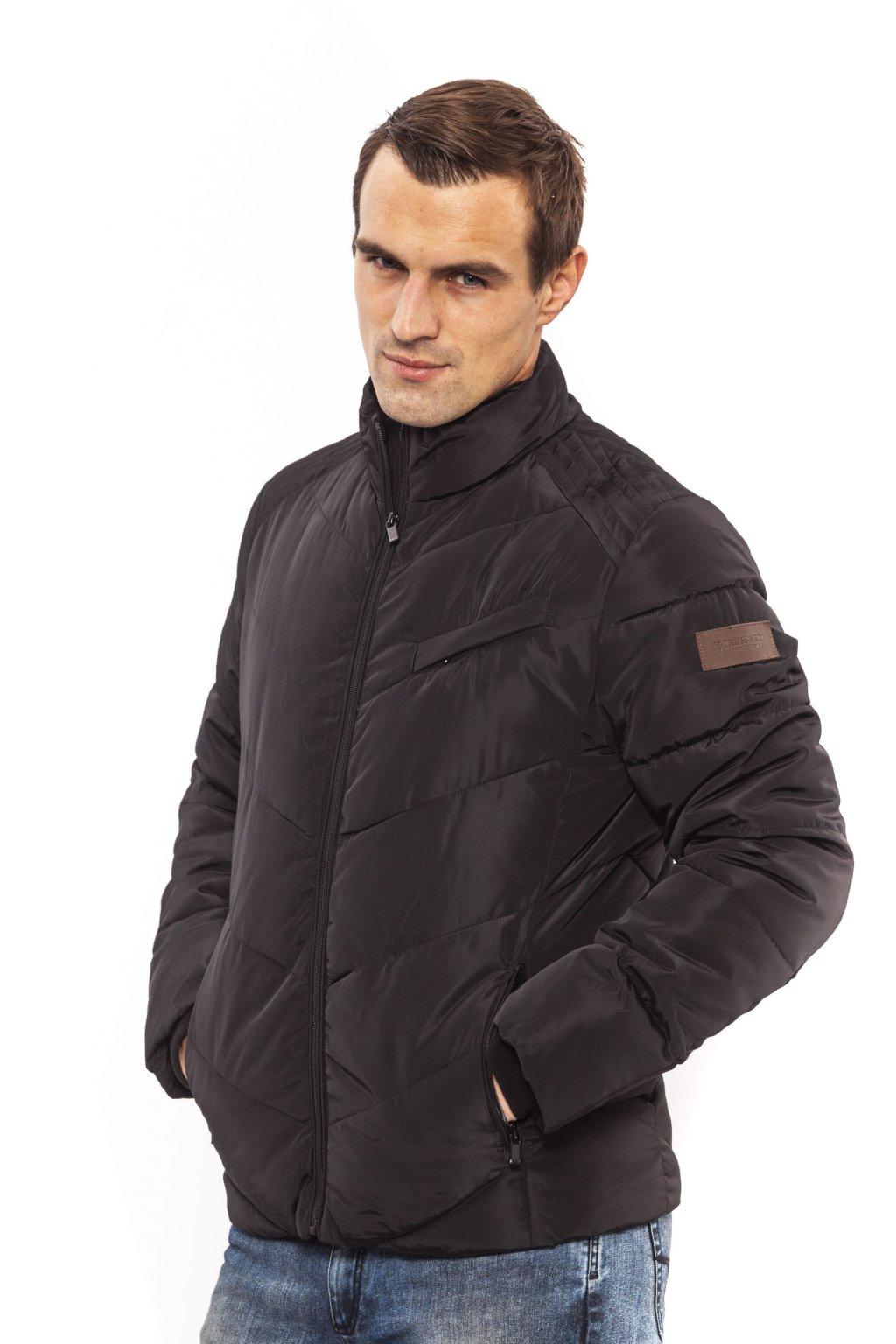 Pánská prošívaná bunda Trussardi (Barva Černá, Velikosti XXL)
