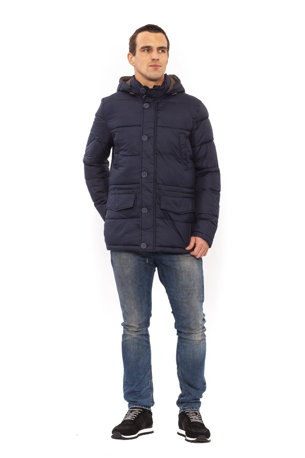 Pánská prošívaná bunda Trussardi - Modrá (Barva Modrá, Velikosti XL)