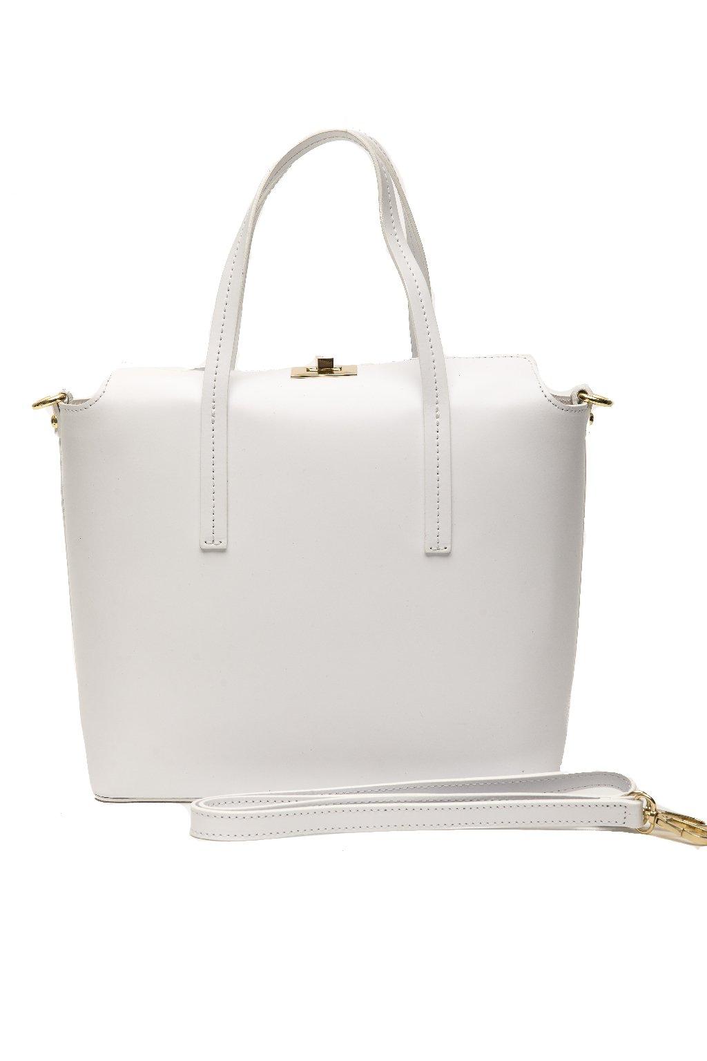 Znackova kabelka Trussardi v bilo zlate barve (1)