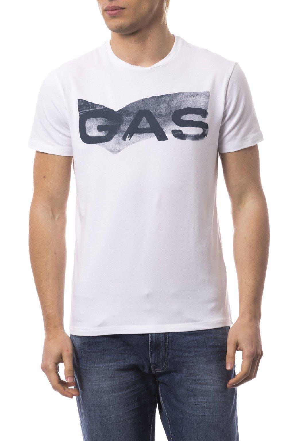 Znackova panske tricko gas jeans bile (1)