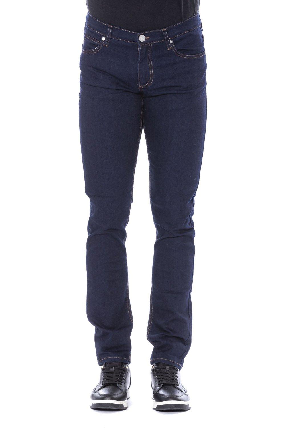 panske luxusni rifle versace jeans tmave modre (1)