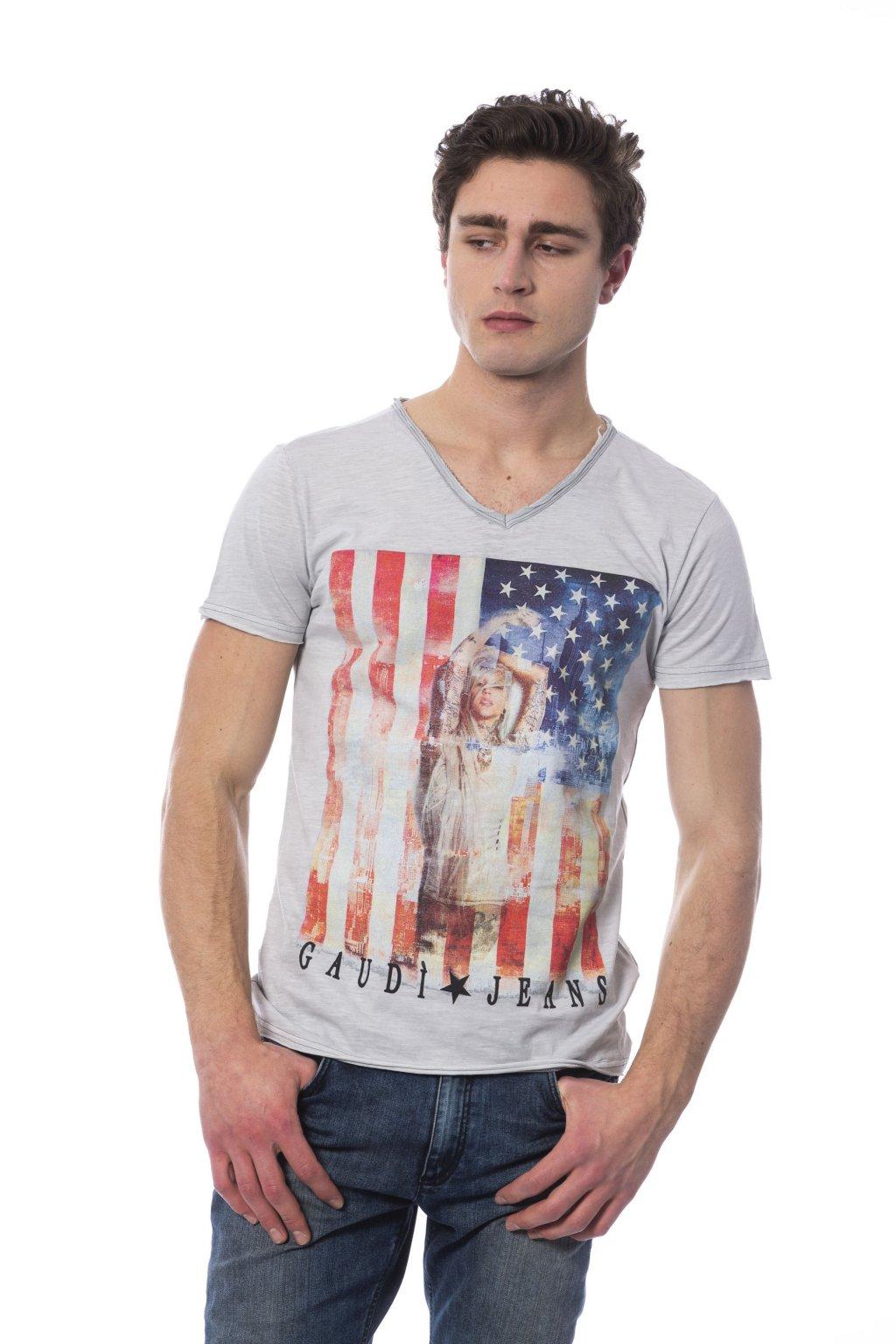 znackove panske tricko Gaudi Jeans america sede (2)