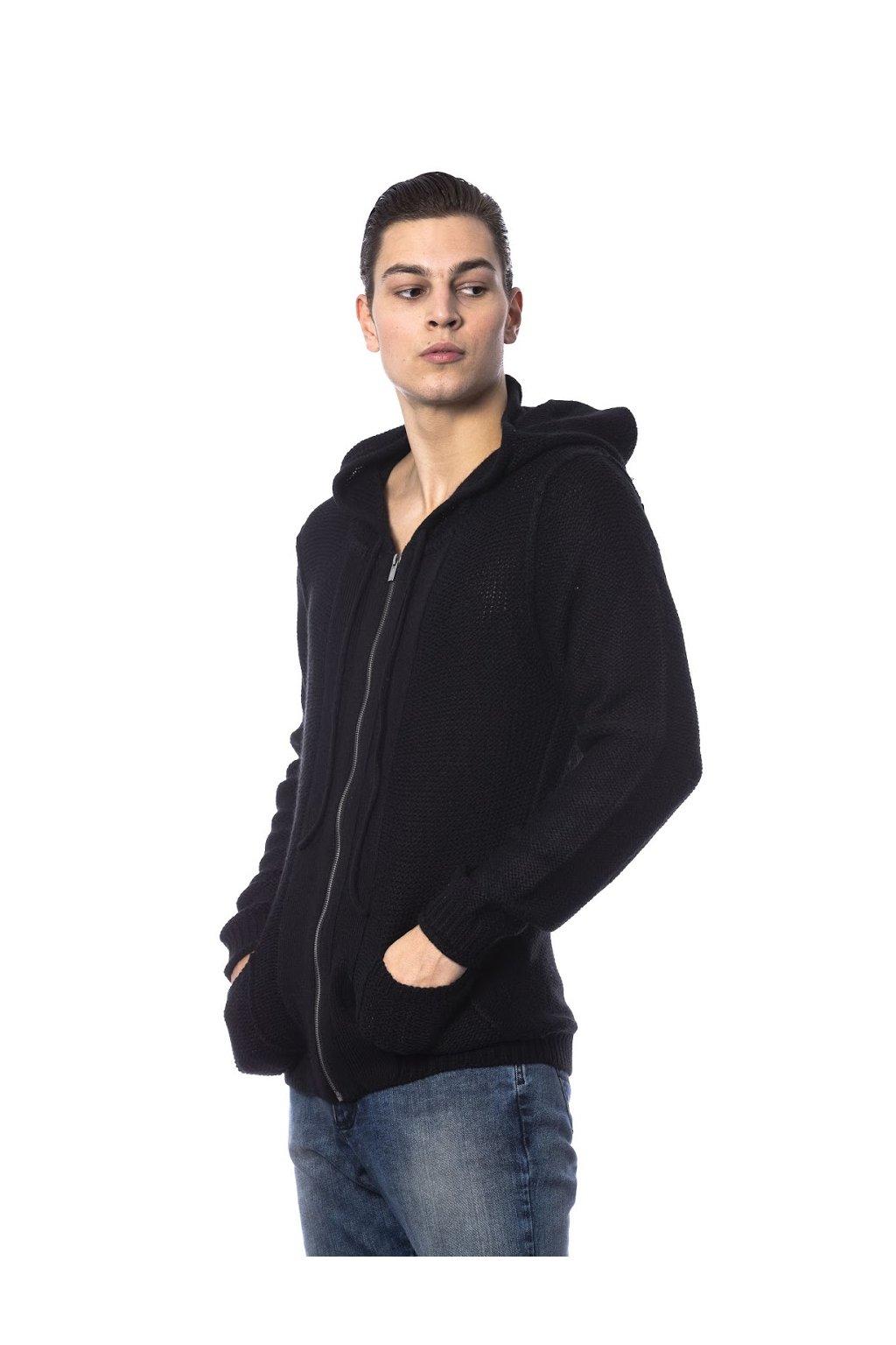 znackova panska mikina s kapuci Gaudi Jeans cerna (1)