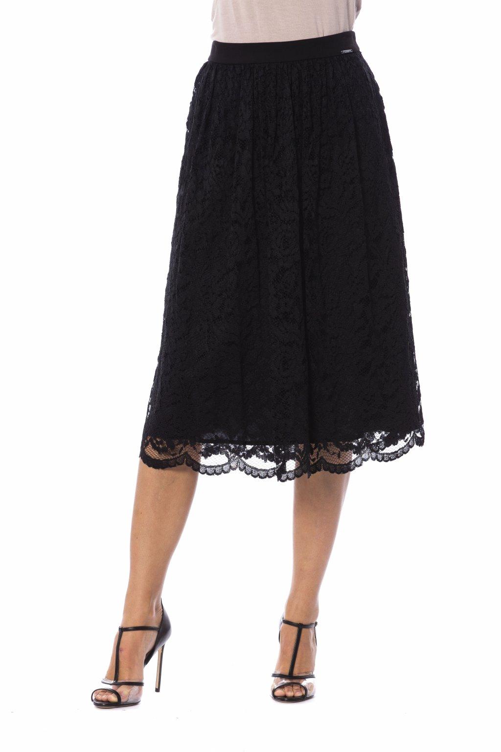 cerna sukne s krajkami Gaudi Jeans (2)