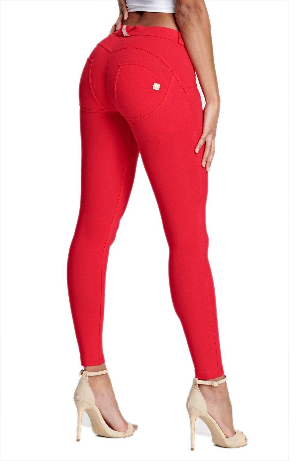 Freddy skinny kalhoty cervene delka po kotniky (1)