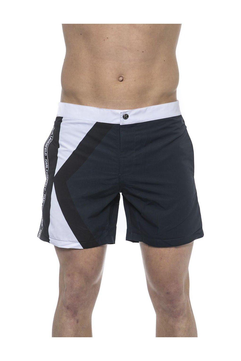 Znackove plavky Karl Lagerfeld Modre (1)