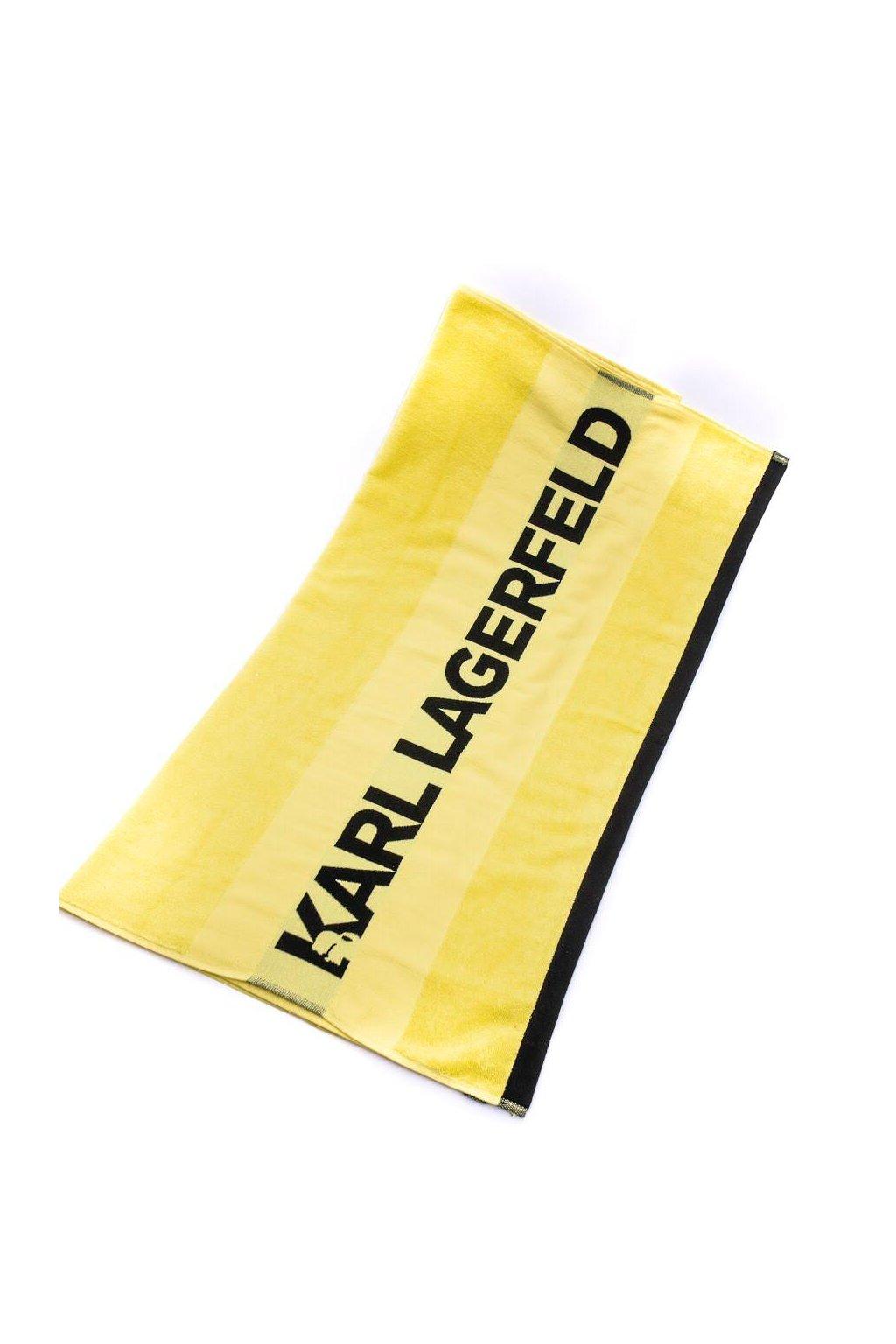 Plazovy rucnik Karl Lagerfeld zluty (1)