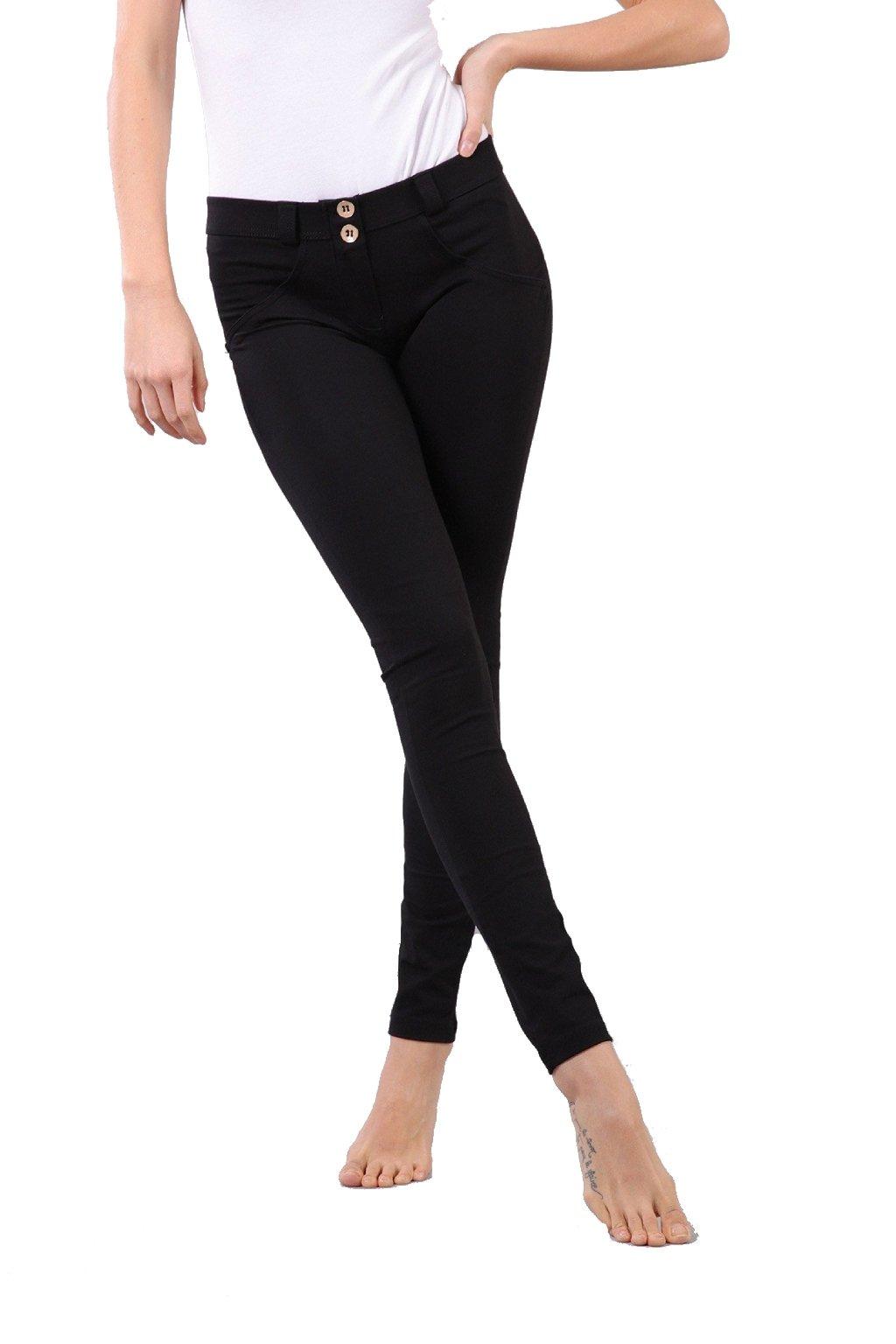 Cerne skinny leginy kalhoty freddy normalni pas (3)