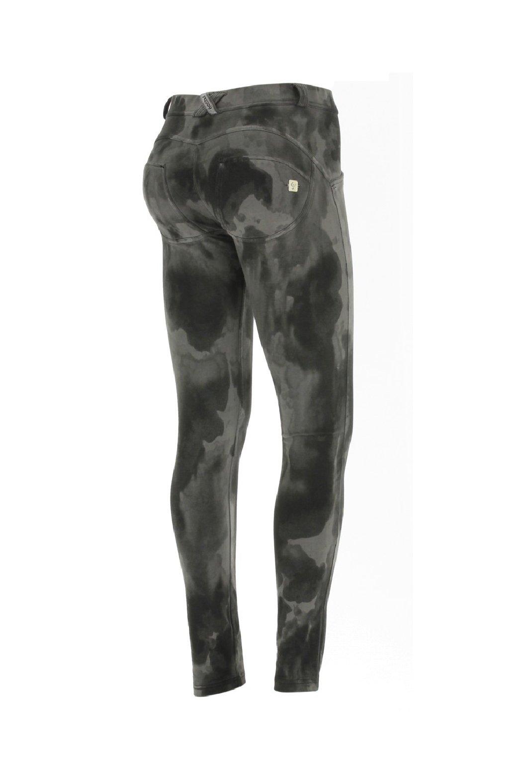 Freddy kalhoty skinny push up elasticke camouflage maskacove cerne sede normalni pas superskinny freddy originalni (4)