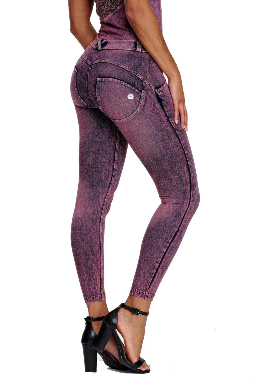 Freddy skinny dziny rifle 78 nad kotniky superskinny elasticke push up kalhoty freddy jeans oprane vyprane efekt oprani normalni pas stredni pas (3)