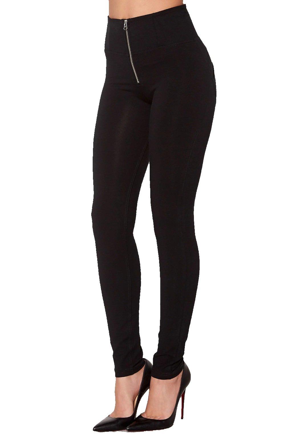 Freddy Wr.Up kalhoty - Vysoký pas - Černé (Barva Černá, Velikost - Oblečení XL)