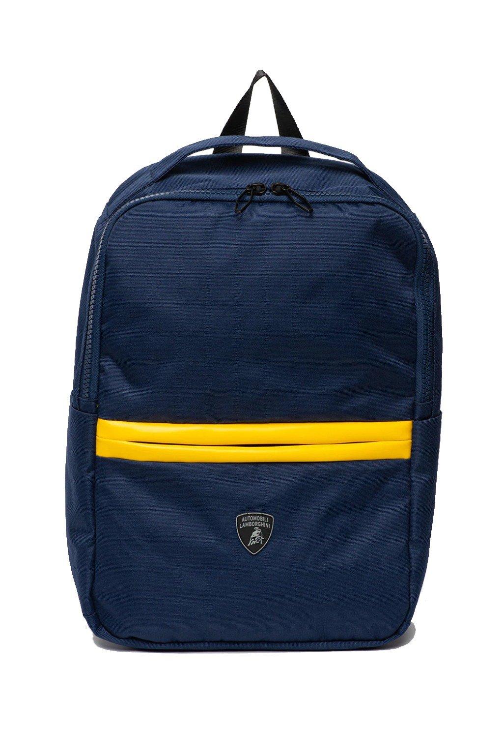 Pásnké batohy Lamborghini ruksak znackove batohy lamborghini auta superauta batohy sportovni batohy batohy pro muze doplnky lamborghini praha panska moda cerny batoh cerny pansky batoh tmave modry zlute lamborghini bl (11)