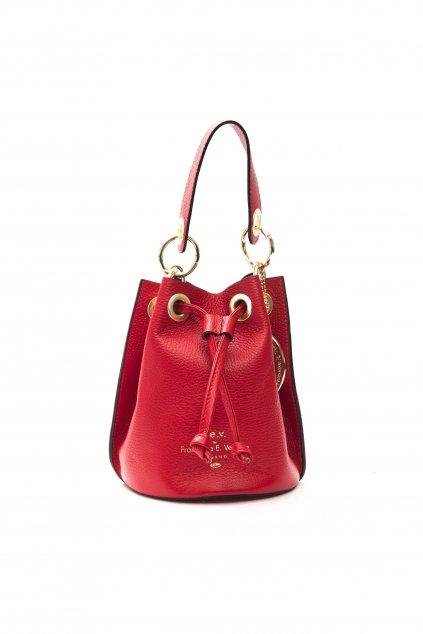 Znackova crossbody kabelka pres rameno Versace cervena (2)