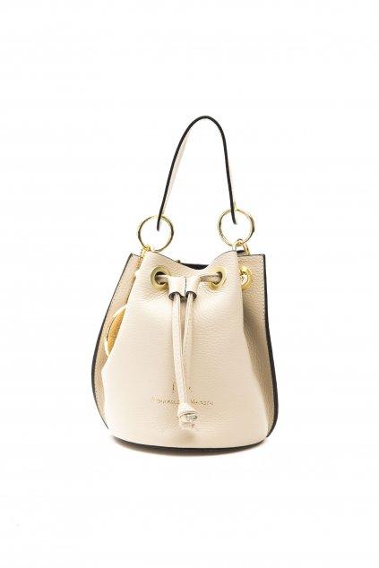 Znackova crossbody kabelka pres rameno Versace bezova (2)