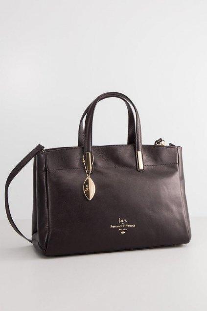Znackova cerna kabelka Francesca Versace (1)