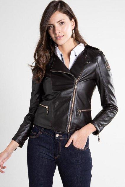 Znackove damska kozena bunda Versace v cerne barve (11)