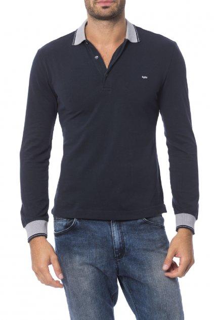 Značkové pánské polo tričko Gas Jeans - Blu (Barva Šedá, Velikosti M)