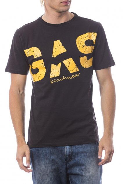 znackove panske tricko gas beachwear cerne (2)