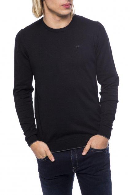 znackovy svetr z kasmiru gas jeans cerny (3)