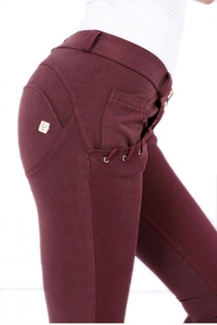 Freddy wrup kalhoty superskinny burgundy (3)