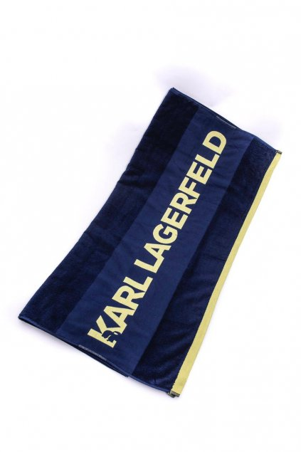 Znackoy plazovy rucnik Karl Lagerfeld Navy (1)
