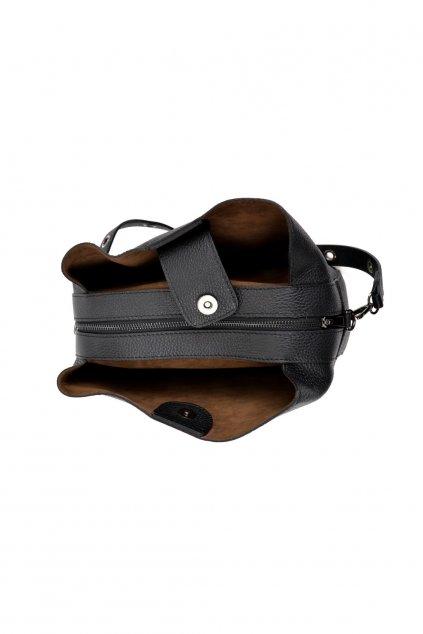 Kožená kabelka do ruky Made in Italy® - Isabella Rhea - Černá