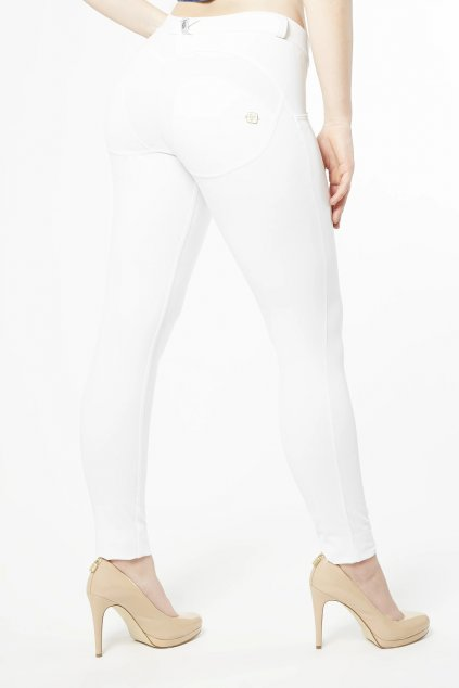Freddy kalhoty diwo pro bile snehove skinny normalni pas sexy jeans leginy sportovni (4)