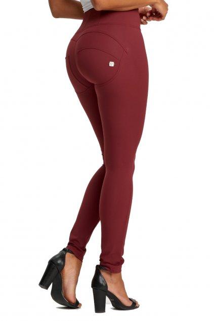 Freddy diwo pro kalhoty vysoky pas d.i.w.o. rude bordeaux burgundyvinove skinny superskinny leginy push up kalhoty originalni freddy nova kolekce (4)