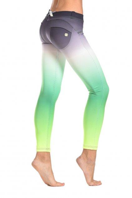 Freddy® Kalhoty D.I.W.O. Ombre -  7/8 - Nízký Pas - Zelené