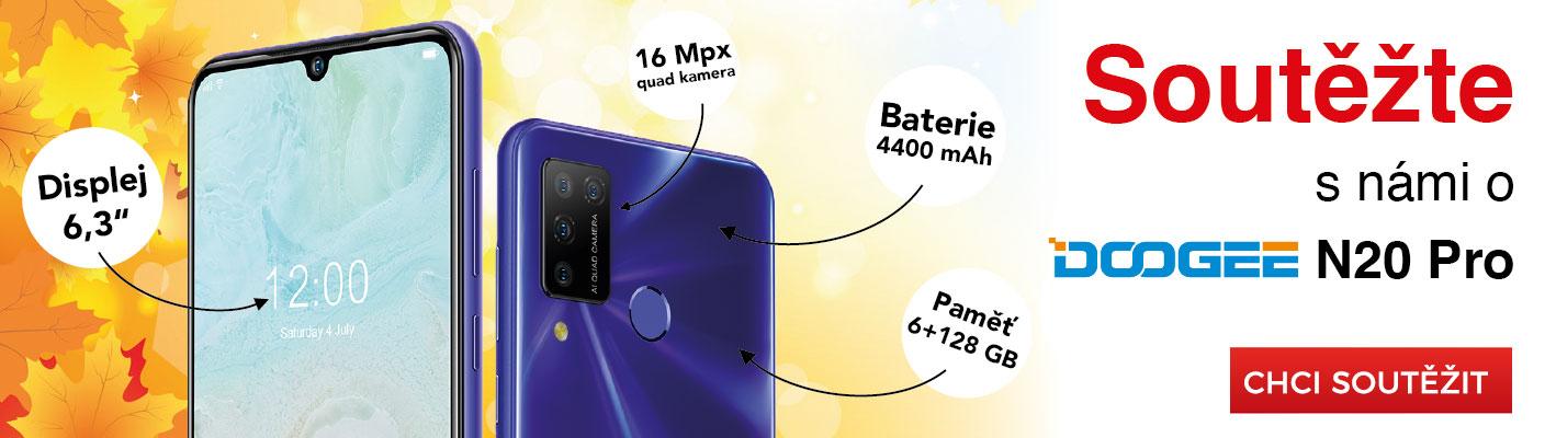 Soutěž o mobilní telefon Doogee N20 Pro