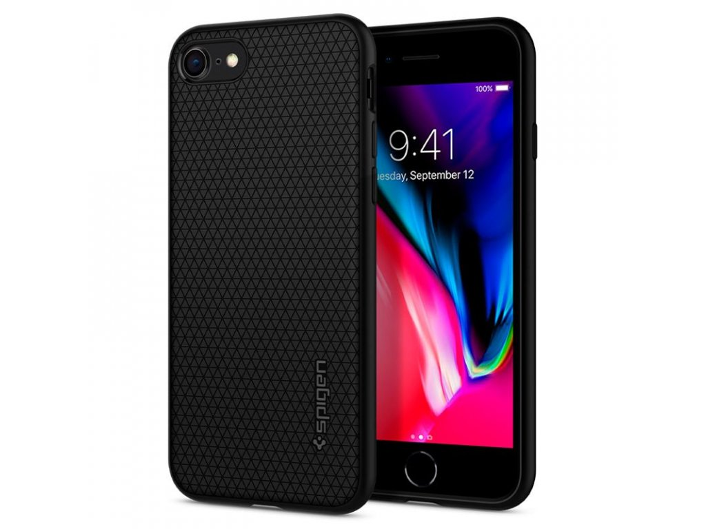 Spigen Liquid Air, black - iPhone SE/8/7