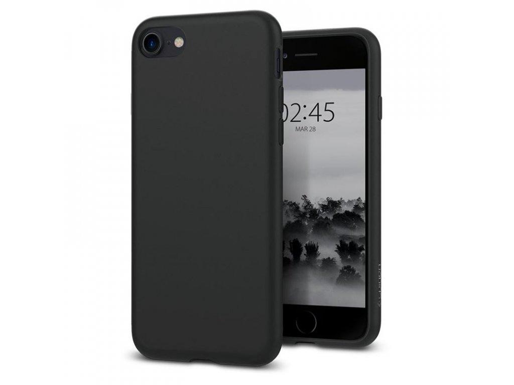 Spigen Liquid Crystal, matte black - iPhone 7/8/SE (2020)