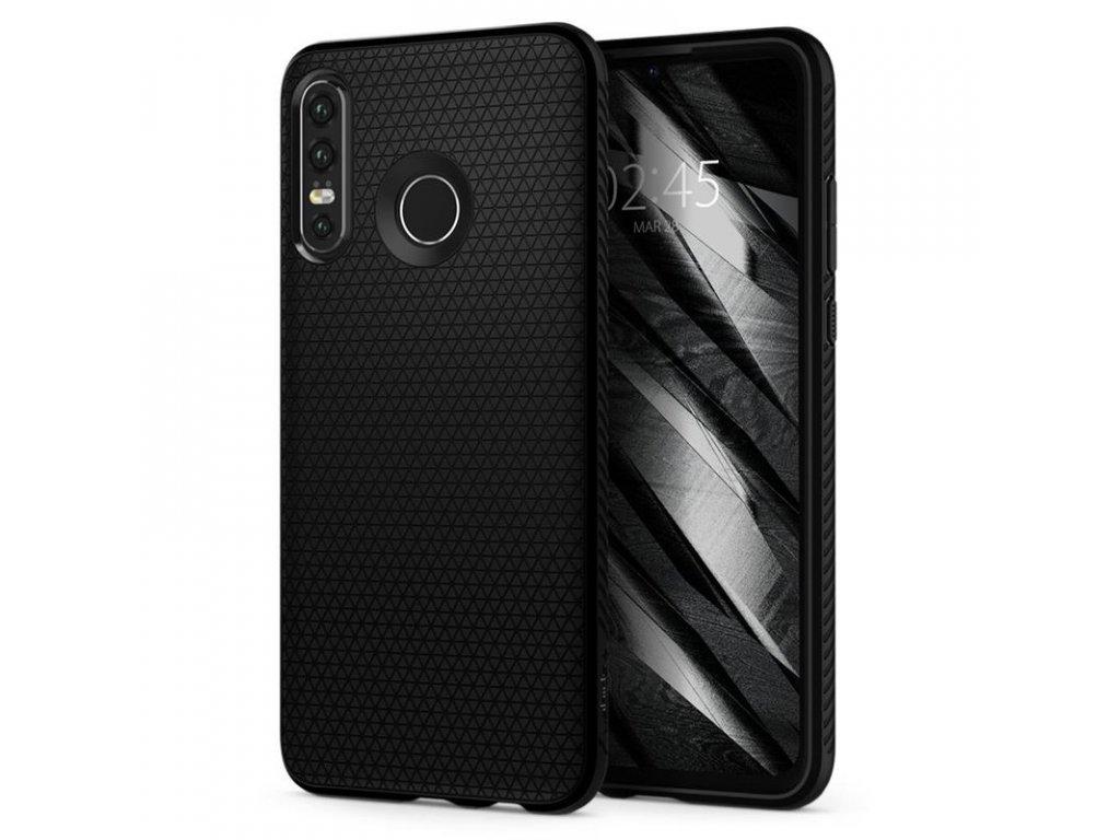 Spigen Liquid Air, black - Huawei P30 Lite/N.E.