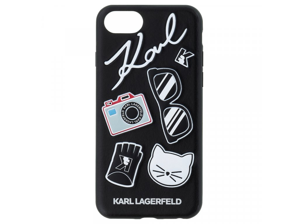 Karl Lagerfeld Pins Hard Case Black pro iPhone 7/8/SE2020