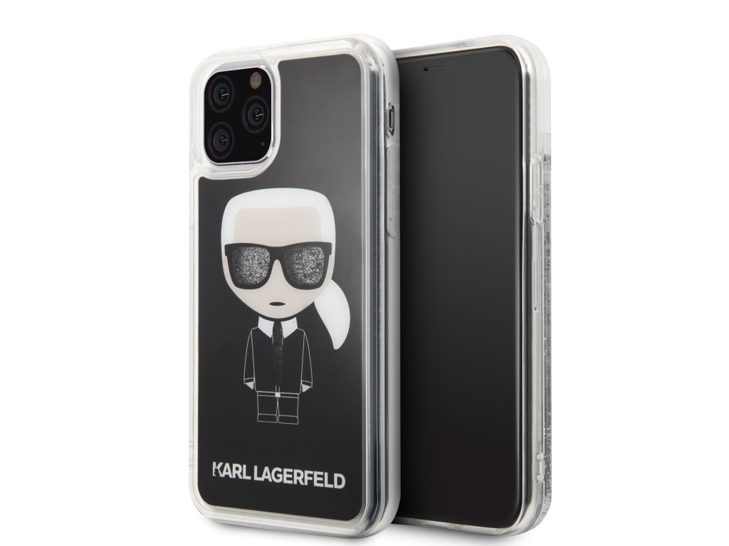 Karl Lagerfeld Iconic Glitter Kryt pro iPhone 11
