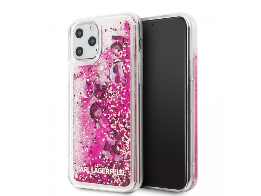 Karl Lagerfeld Floating Charms Kryt pro iPhone 11 Pro Rose Gold