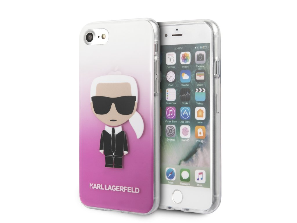 Karl Lagerfeld Fun Sunglasses Kryt pro iPhone 8/SE2020 Pink