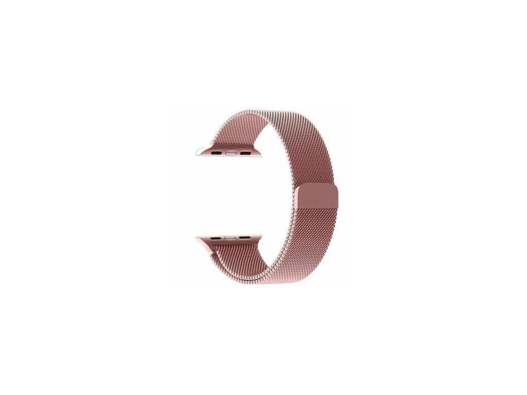 Magnetický Kovový Řemínek pro iWatch 1/2/3/4/5/6/SE 38/40mm Rose