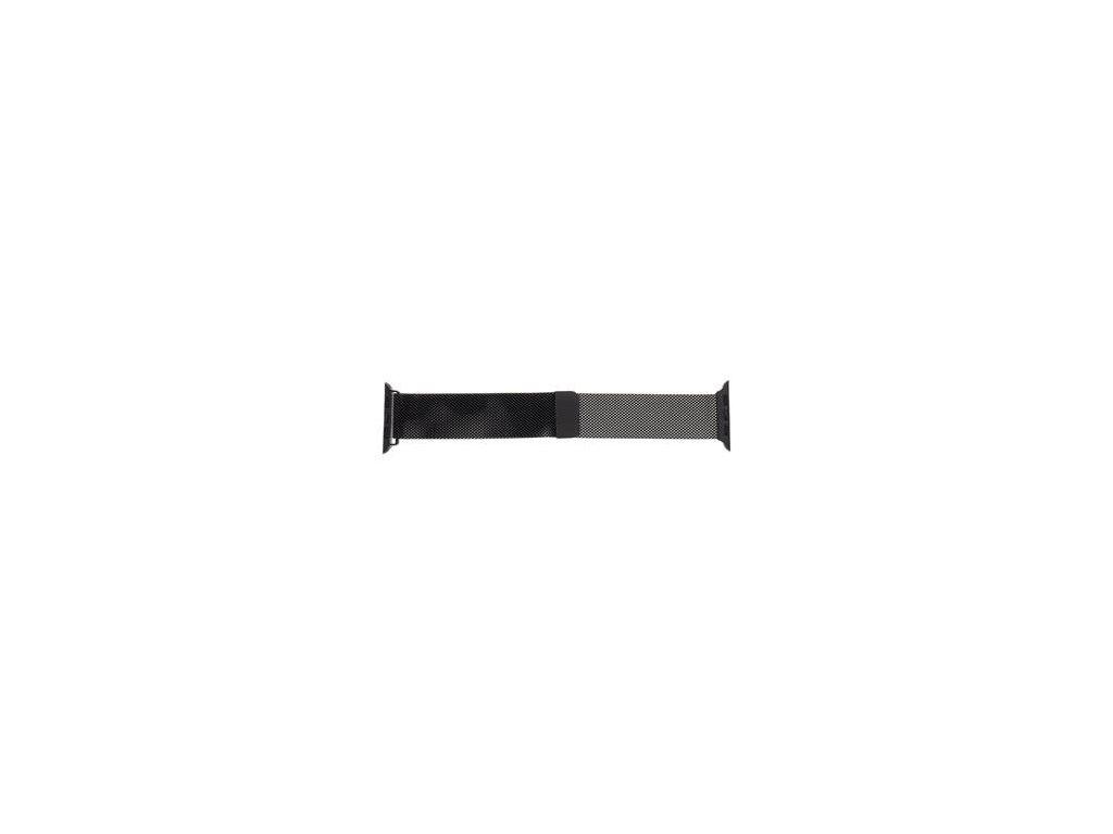 Magnetický Kovový Řemínek pro iWatch 1/2/3/4/5/6/SE 38/40mm Black