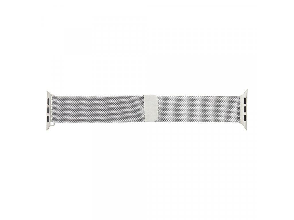 Magnetický Kovový Řemínek pro iWatch 1/2/3/4/5/6/SE 42/44mm Silver