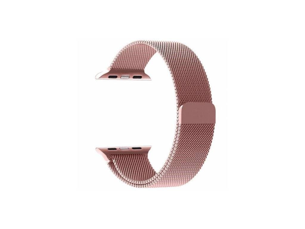 Magnetický Kovový Řemínek pro iWatch 1/2/3/4/5/6/SE 42/44mm Rose Gold