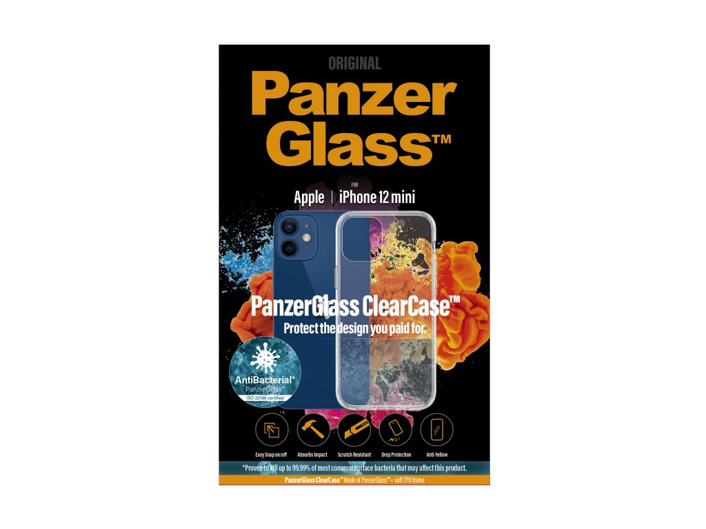 PanzerGlass ClearCase Antibacterial pro Apple iPhone 12 mini