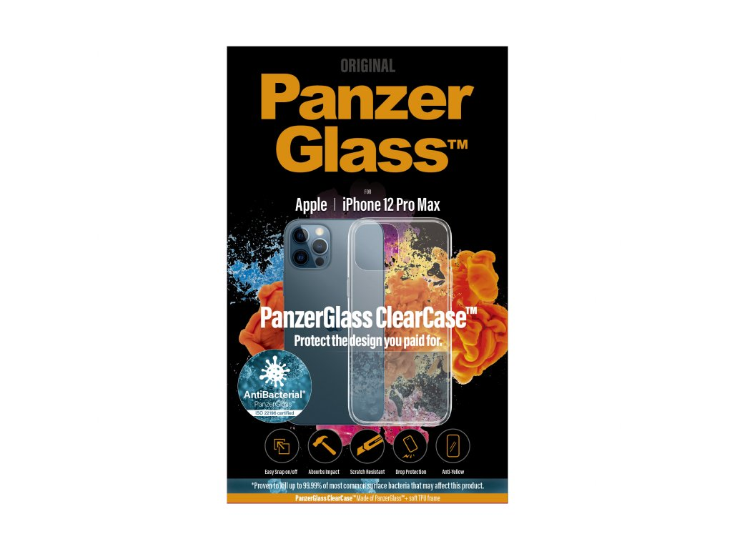 PanzerGlass ClearCase Antibacterial pro Apple iPhone 12 Pro Max