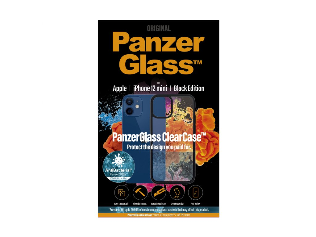 PanzerGlass ClearCase Antibacterial pro Apple iPhone 12 mini Black edition