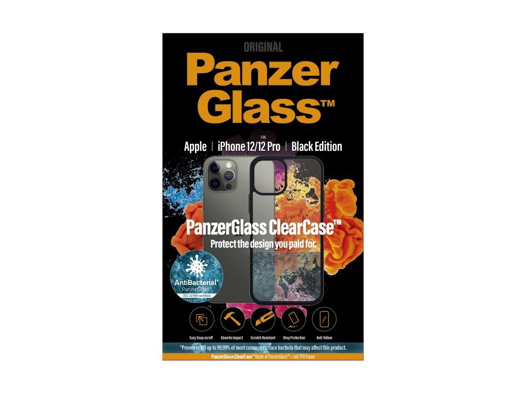 PanzerGlass ClearCase Antibacterial pro Apple iPhone 12/12 Pro Black edition
