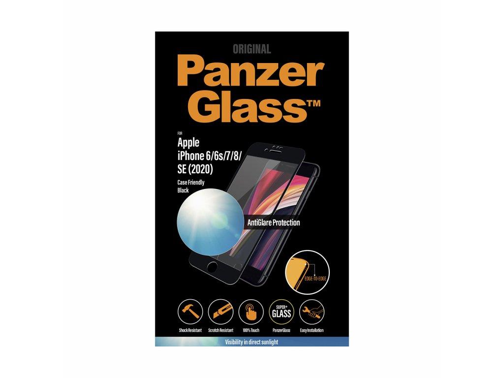 PanzerGlass Edge-to-Edge pro Apple iPhone 6/6s/7/8/SE 2020 černé s Anti-Glare vrstvou